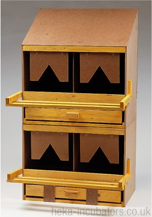 Nesting Box, 2 compartment, large, wooden, flat roof