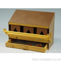 Nesting Box, 3 compartment, large, wooden, slope roof