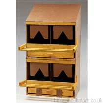 Nesting Box, 2 compartment, large, wooden, sloped roof
